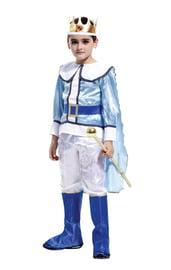 Детский костюм Короля в бело-голубом
