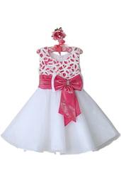 Белое платье с ажурным топом