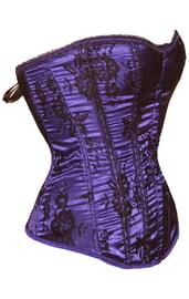 Черно-фиолетовый корсет