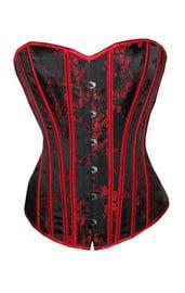 Корсет черный с красным декором