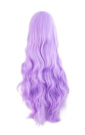Сиреневый длинный парик