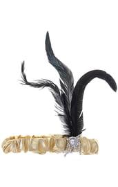 Золотой флаппер с пером