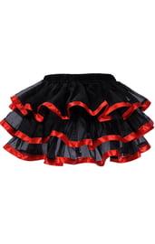 Многослойная красно-черная юбка