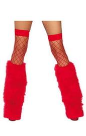 Красные меховые накладки на сапоги