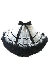 Пышная черно-белая юбка