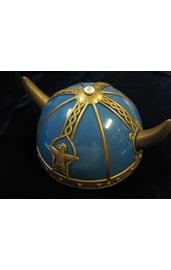 Шлем викинга голубой