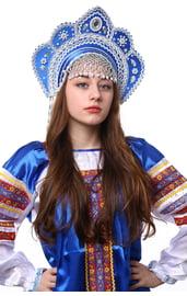 Кокошник синий Фантазия