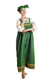 Зеленый костюм барыни