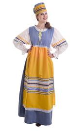 Синий русский народный костюм
