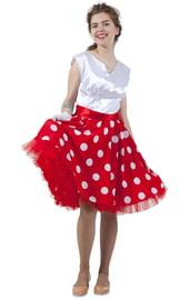 Красно-белое платье в стиле 50-х