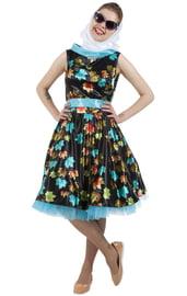 Платье с листочками в стиле 50-х