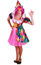 Яркий костюм клоунессы для взрослых
