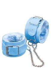 Голубые наручники с мехом