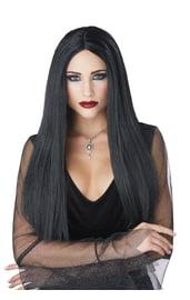 Длинный черный парик