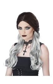 Черно белый парик ведьмы