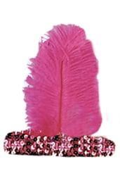 Розовая повязка на волосы