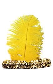 Желтая повязка на волосы