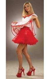 Красный подъюбник для костюмов