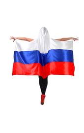 Накидка Россия с капюшоном