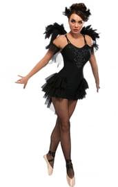 Костюм Черной Балерины с крыльями
