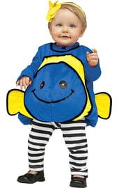 Костюм синей рыбки для малыша