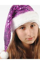 Новогодний фиолетовый колпак
