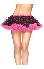 Розово-черный подъюбник