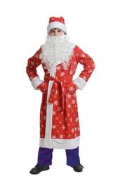 Детский костюм Деда Мороза в красном