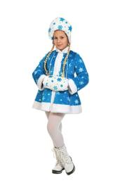 Детский костюм Снегурочки со снежинками