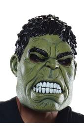 Взрослая латексная маска Халка