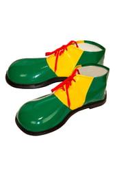 Взрослые зеленые башмаки Клоуна