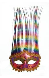 Радужная карнавальная маска