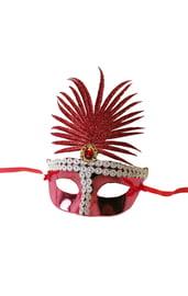 Красная сказочная маска