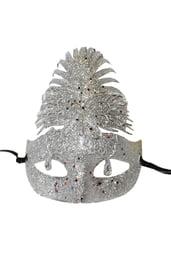 Серебряная блестящая маска