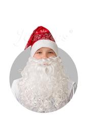 Сатиновый красный колпак с бородой