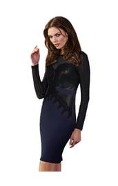 Темно-синее клубное платье