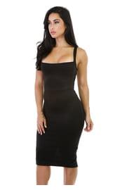 Черное платье с сетчатой спиной