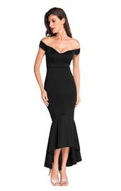 Вечернее классическое черное платье