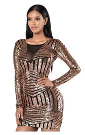 Блестящее платье для клуба