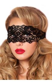 Черная кружевная маска Тайна
