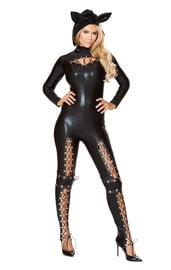 Черный комбинезон Женщины Кошки