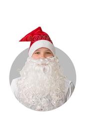 Красный сатиновый колпак с бородой