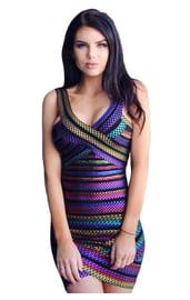 Фиолетовое платье для клуба