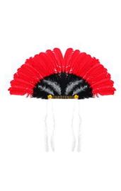 Черно-красный головной убор индейца