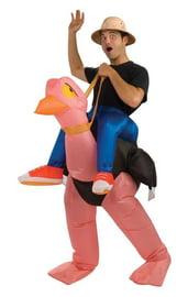 Надувной костюм Наездник страуса
