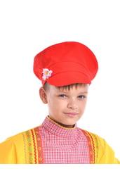 Детский красный картуз