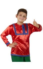 Красная русская рубаха