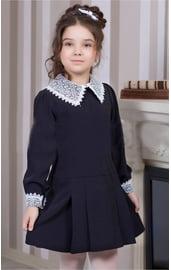 Детское синее платье школьницы СССР