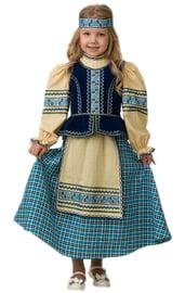 Синий национальный костюм для девочки