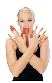 Накладные красные ногти